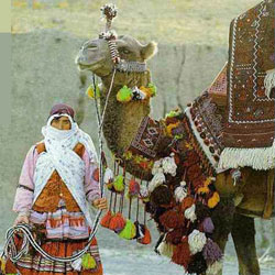 Nomads and carpets weaving