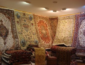a carpet shop in Tehran