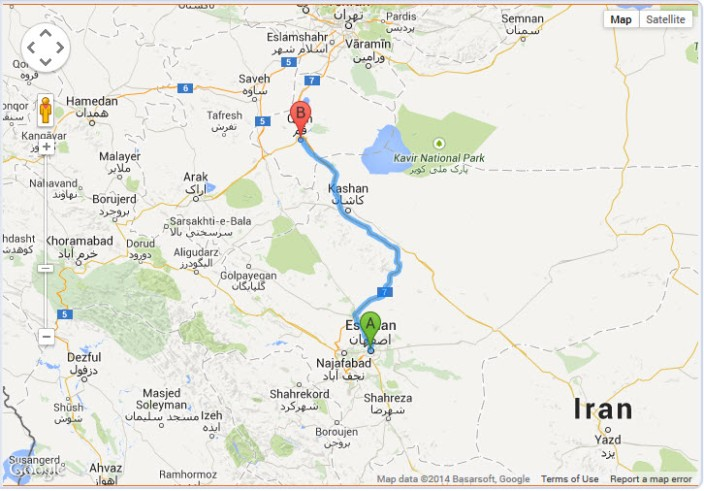 isfahan distance isfahan to qom iran travel trip to iran qom map